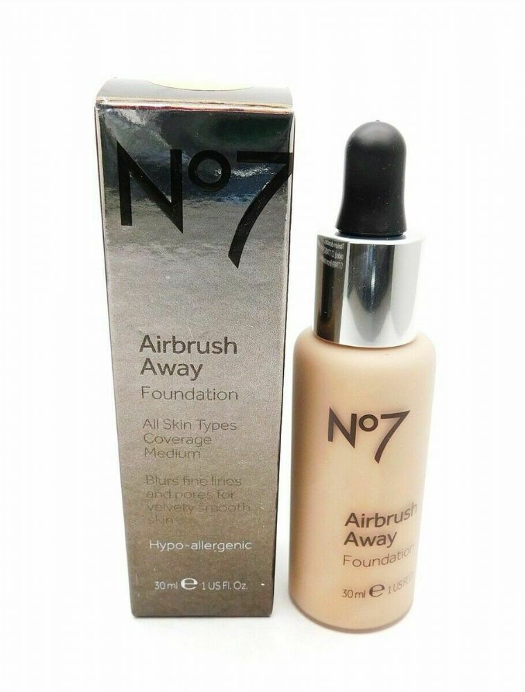 No7 AIRBRUSH AWAY FOUNDATION 30ml ALL SKIN TYPES CHOOSE YOUR SHADE
